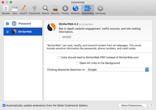 A Close Look at Safari Extensions in macOS High Sierra