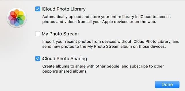 Enabling iCloud Photo Library, My Photo Stream, and iCloud Photo Sharing