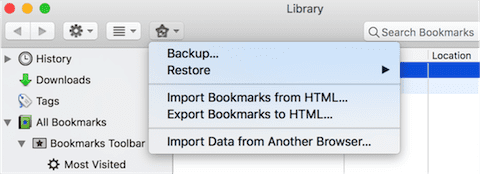 Import Data from Another Browser