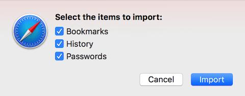 Importing data into Safari
