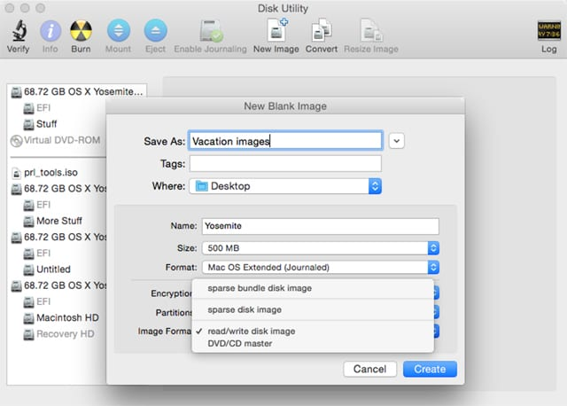 How to Create an Encrypted Disk Image Using Mac's Disk Utility