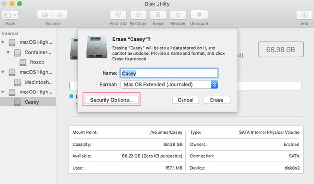 How to Use Disk Utility to Securely Wipe the Data Stored on a Drive