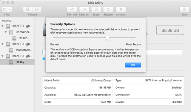 How to Use Disk Utility to Securely Wipe the Data Stored on