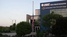 The American Flag set to Half Mast at Sunrise, Memorial Day @ OWC HQ Woodstock, IL