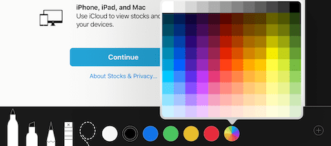The new color picker for Markup