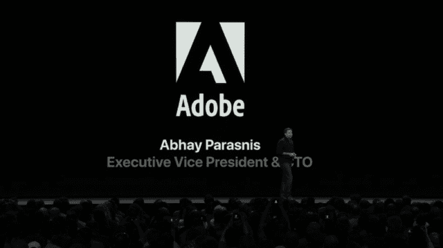 Adobe CTO Abhay Parasnis detailing his company's support of USDZ and AR creation tools