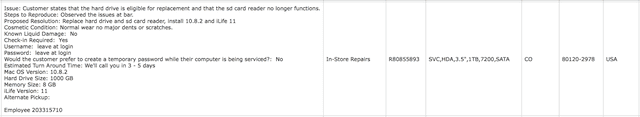 Details of every repair requested on any of the author's Apple devices since 2004