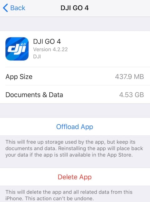 A close look at how a single app is utilizing storage