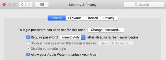 "Click the checkbox next to ""Require password"" and select ""immediately"" or ""5 seconds"" as the time interval"