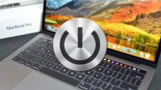 2017 MacBook Pro with Touch Bar and Power Button icon
