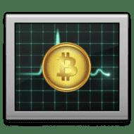 activity monitor with bitcoin logo
