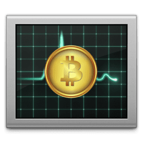 activity monitor with bitcoin logo