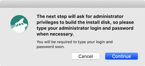 (You'll need to enter your admin login and password)