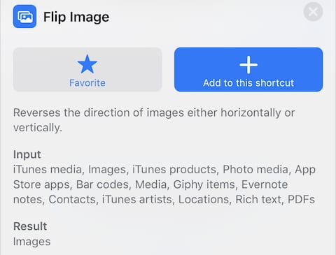 "(The ""flip image"" action in iOS 12)"