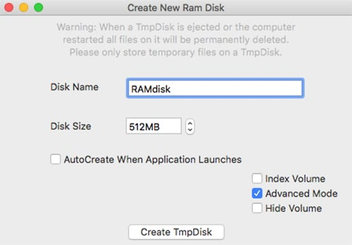 Creating and Using a RAM Disk With Your Mac