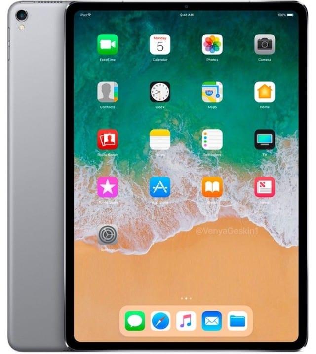 2018 iPad Pro rendering by Benjamin Geskin