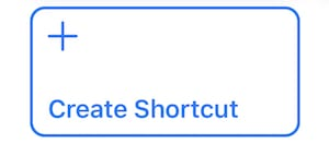 "(The ""Create Shortcut"" button in the Shortcuts library)"