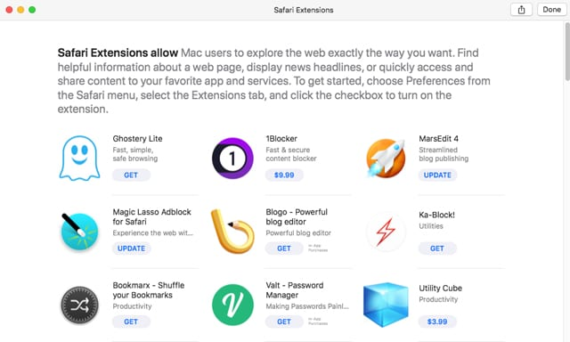 Six Free or Almost Free Safari Extensions