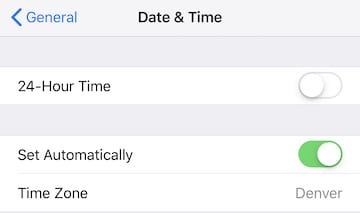 (Setting an iOS device to change time zones automatically)