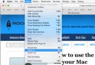 Safari's View menu.