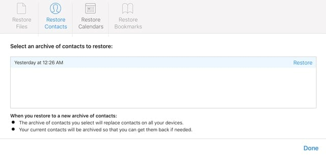 iCloud Can Recover Deleted Files, Contacts, Bookmarks