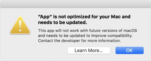App is Not Optimized for Mac