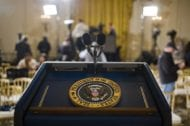 Presidential Podium and Seal