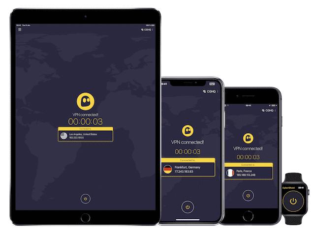 CyberGhost even has an Apple Watch app