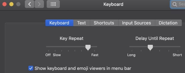 Keyboard Preference Pane