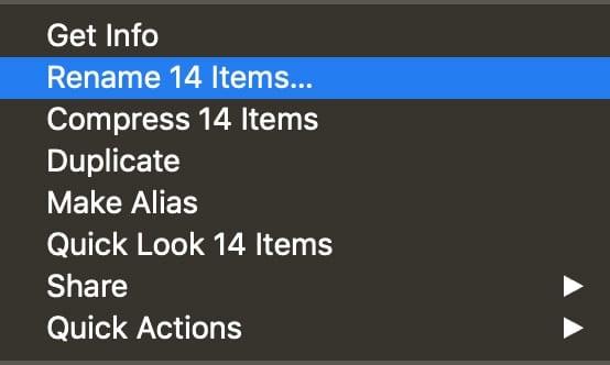 Rename Items