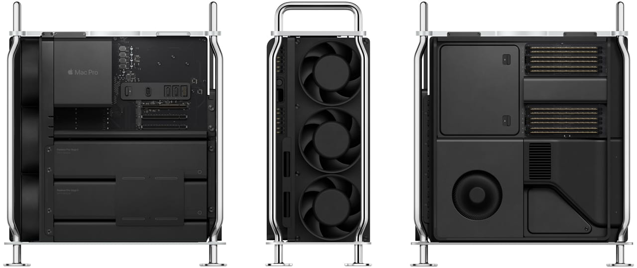 2019 Mac Pro with case removed and 360 view