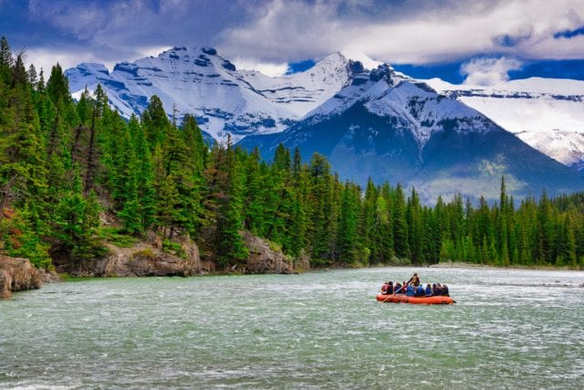 Bow River near Banff, Alberta, Canada. Photo ©2019, Steven Sande
