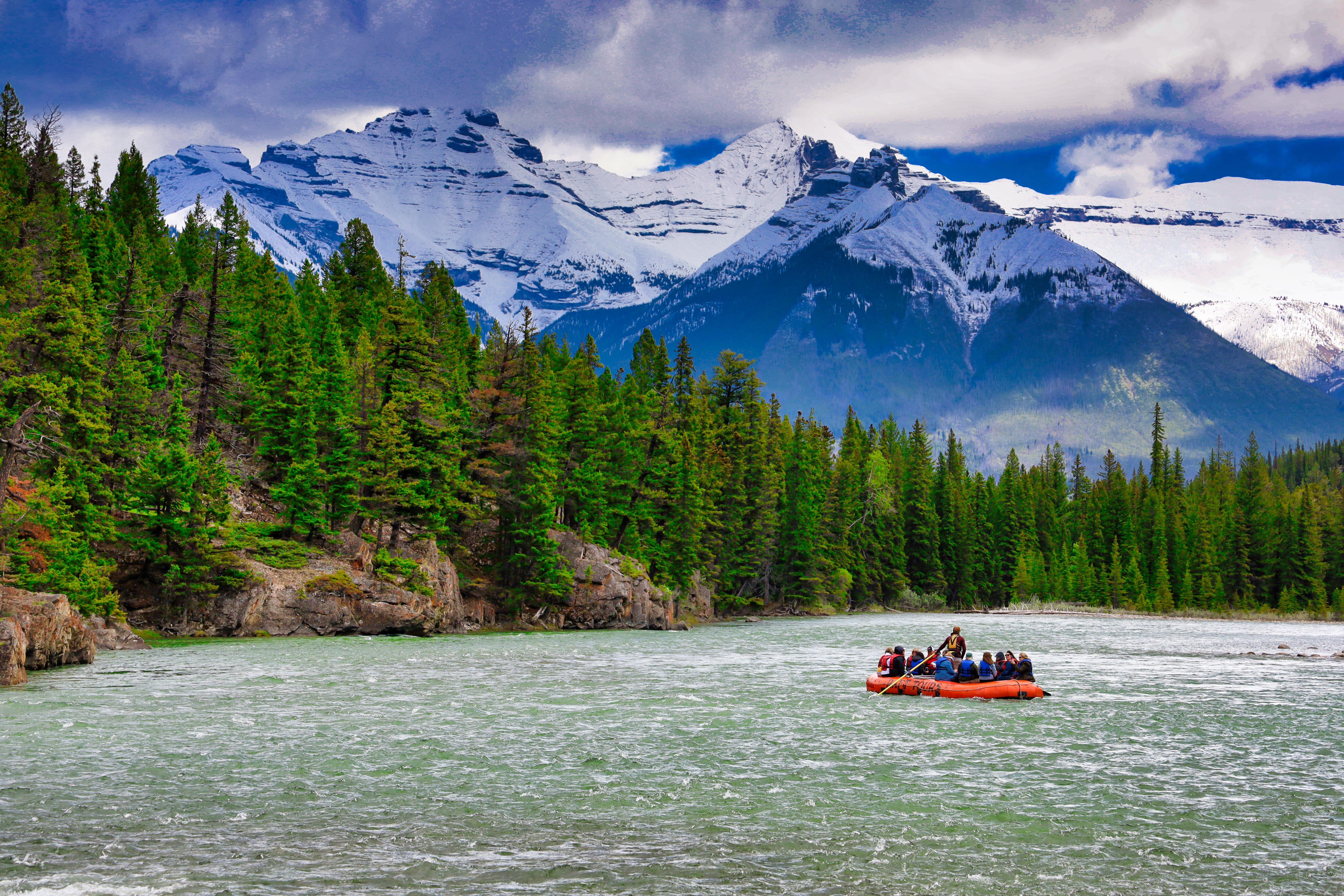 Photo of Bow River, Banff, Alberta, Canada. © 2019, Steven Sande