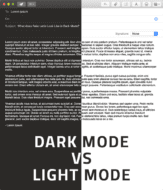 Dark Mode VS Light Mode