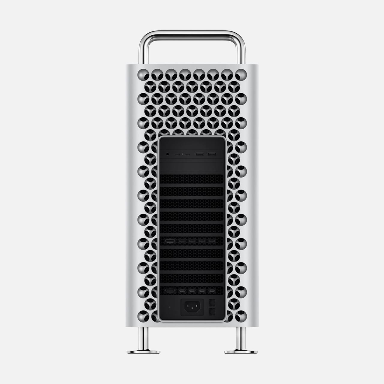 2019 Mac Pro viewed from the back side.
