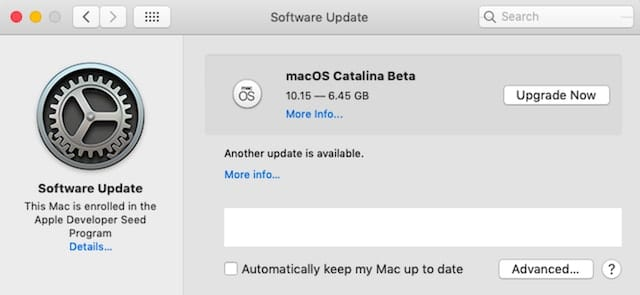 macOS Catalina Beta Update