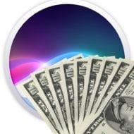 Siri logo with money