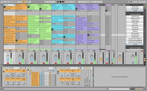 Screen shot of Ableton Live Mix Window