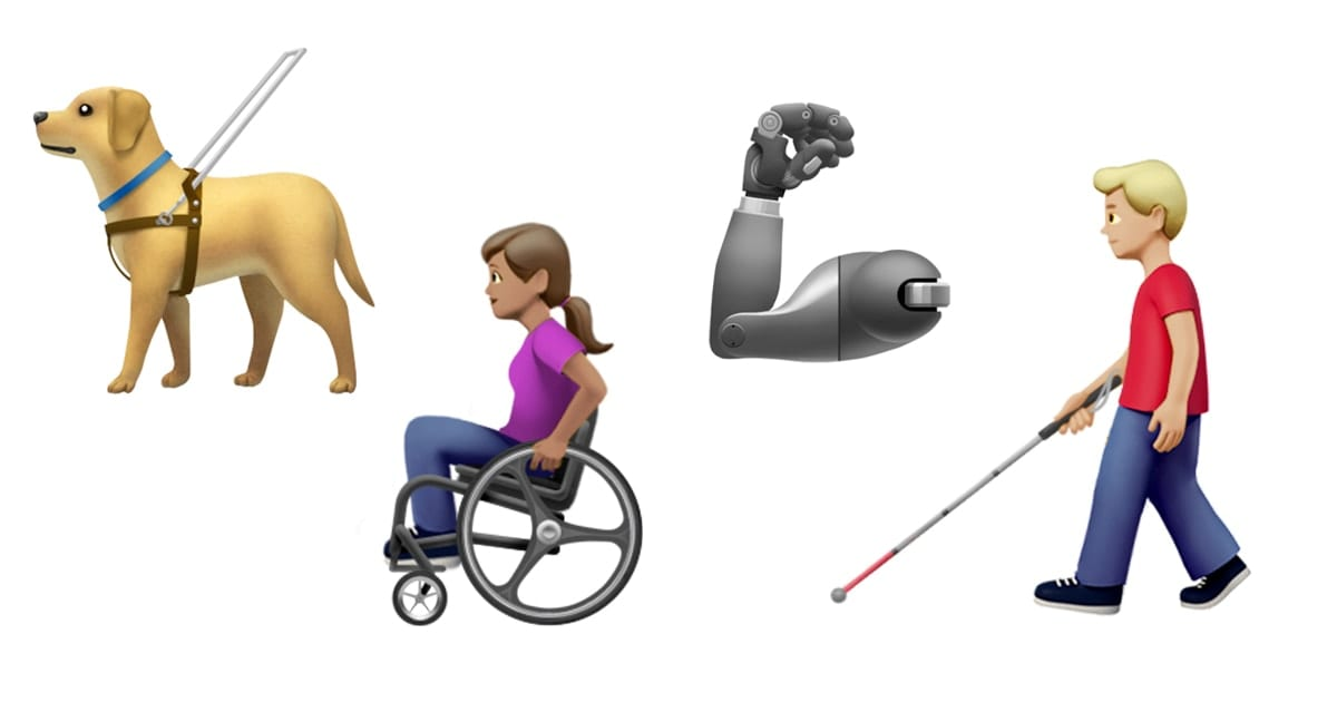Image of accessibility emojis.