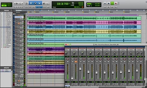 Screenshot Avid Pro Tools Mic Window