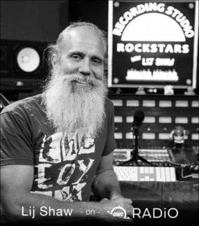 Recording Engineer Lij Shaw in recording rockstars studio
