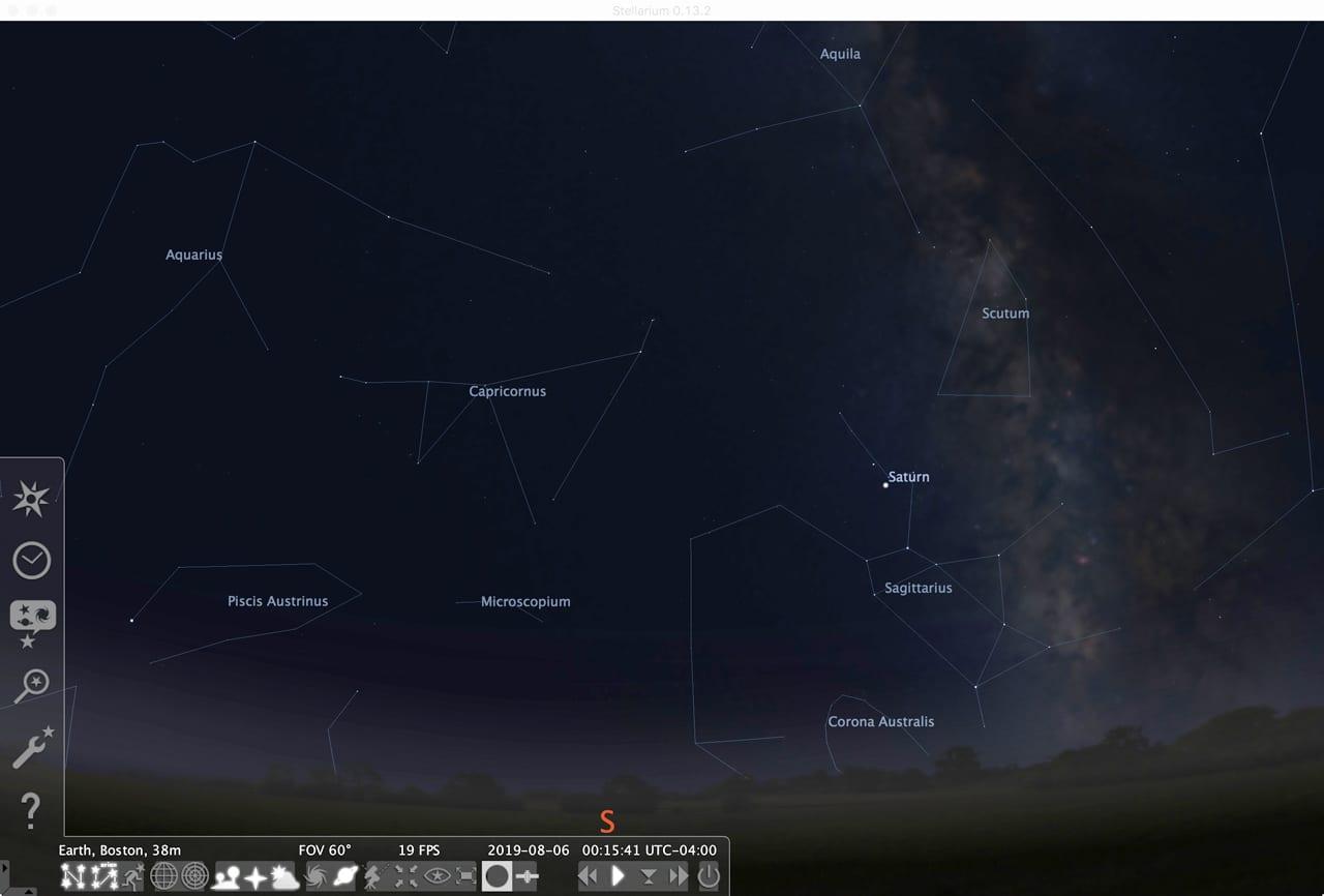 Stellarium planetarium app.