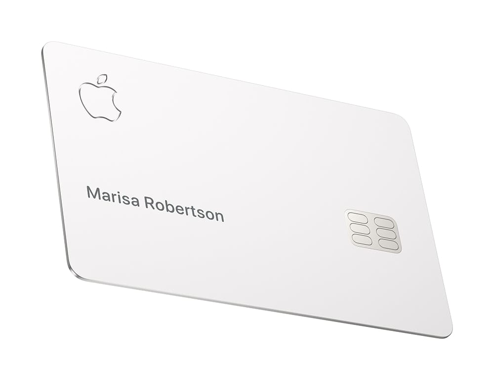 The optional physical Apple Card is made from titanium and just features your name...and no other information.