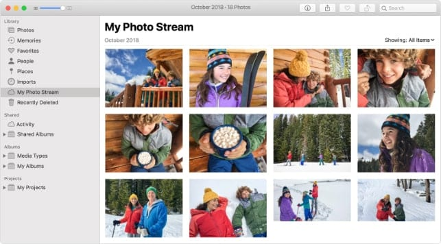 DScreenshot of My Photo Stream