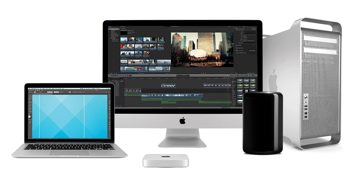 Image of used Macs: Macbook Pro, Mac Mini, iMac, Mac Pro