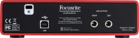 Back of Focusrite Scarlett Audio Interface