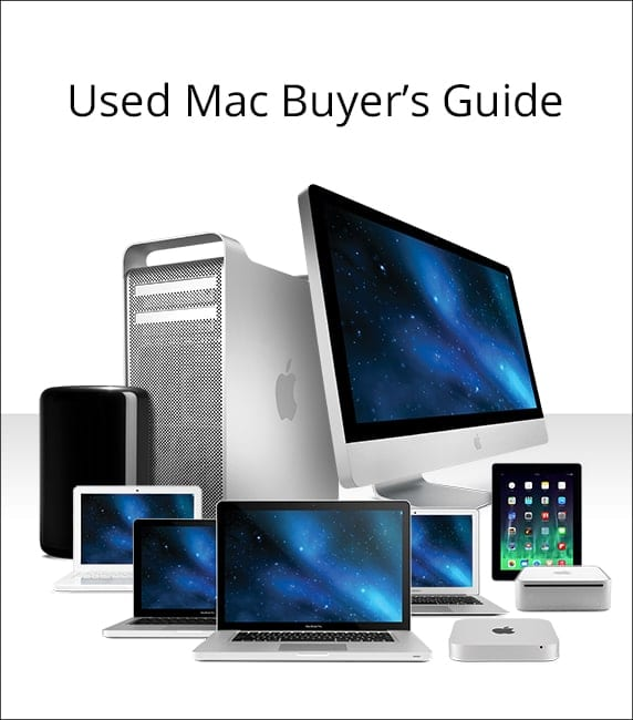 Used Mac Buyers Guide - collage of mac computers