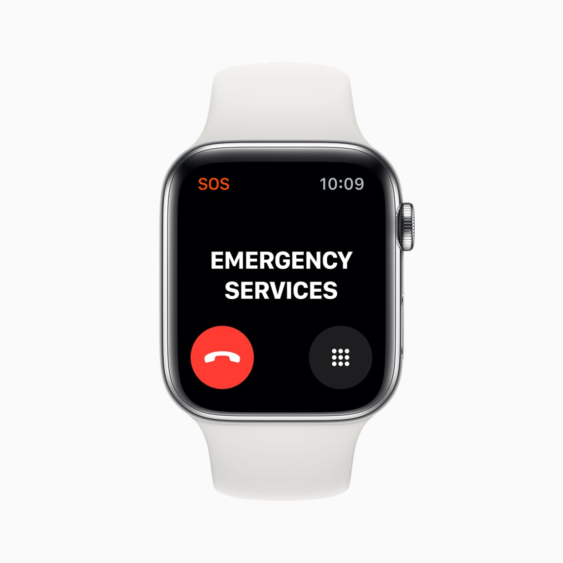 Apple Watch Series 5 can now complete calls to emergency services when traveling internationally. (image via Apple)