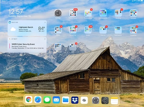 The Today screen can be added to your Home screen if you're willing to put up with smaller app and folder icons