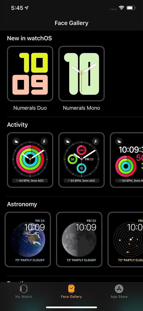 Two new Watch faces for 3rd-Generation Apple Watch